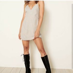 Planet blue plaid mini dress by the east order